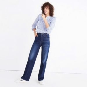 Madewell High Rise Wide Leg Jeans